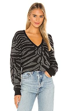 Zebra Lurex Sweater 7 For All Mankind $255