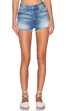 7 For All Mankind High Waist Cut Off Short in Rigid Vintage Indigo