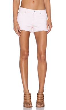 7 For All Mankind Cut Off Short in Whipser Pink