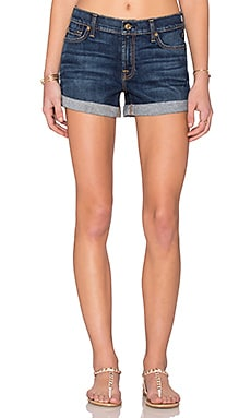 7 For All Mankind Roll Up Short in Medium Timeless Blue