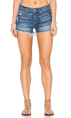 7 For All Mankind Distressed Cut Off Short in Aggressive Bright Indigo 2