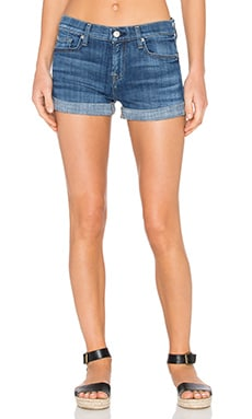 7 For All Mankind Roll Up Short in Athens Broken Twill