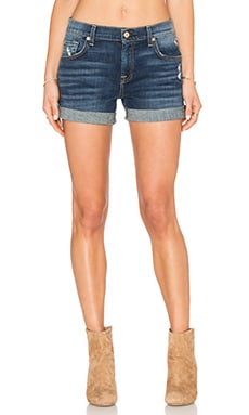7 For All Mankind Mid Rise Short in Crete Island