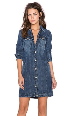 7 For All Mankind Trucker Duster in Rigid Lake Blue