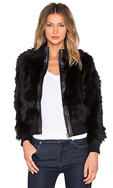 Luxe Faux Fur Jacket in Black