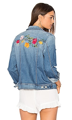 Trucker Jacket in Rose Garden Embroidered
