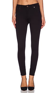 7 For All Mankind High Waisted Skinny in Black Double Knit