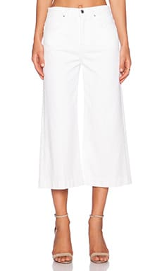7 For All Mankind Culotte in Runway White