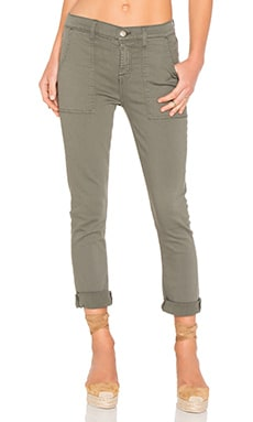 7 For All Mankind Military Pant in Military Green