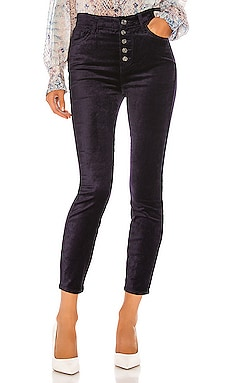 The High Waist Velvet Ankle Skinny 7 For All Mankind $195