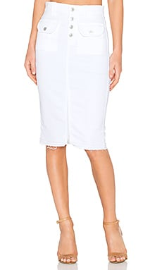 7 For All Mankind Pencil Skirt in White