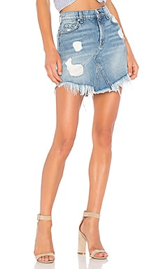Mini Skirt with Frayed Hem
