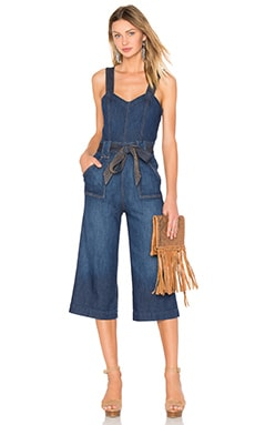 7 For All Mankind Culotte Jumpsuit in Saint Tropez