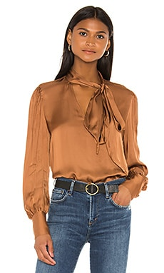 Tie Neck One Sleeve Top 7 For All Mankind $195