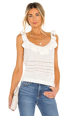 Crochet Ruffle Cami 7 For All Mankind $148 NEW