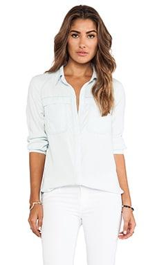 7 For All Mankind Raglan Patch Pocket Shirt in Clear Aquamarine