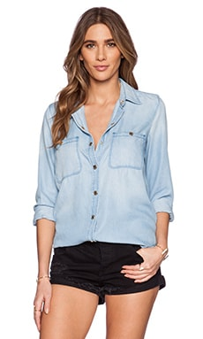 7 For All Mankind Boyfriend Shirt in Crystal Blue