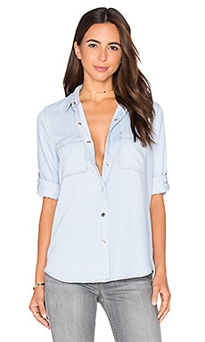 Denim Button Up en Crystal Blue