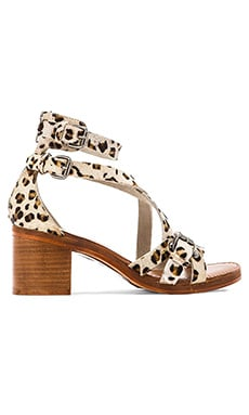 Seychelles Aquarius Calf Sandal in Grey Leopard