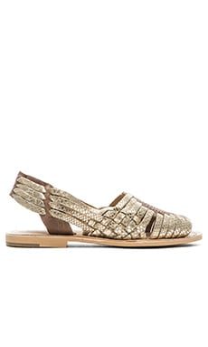 Seychelles Square Sandal in Gold
