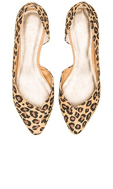 Seychelles Advantage Flat in Tan Leopard