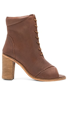 Stun Open Toe Bootie in Whiskey