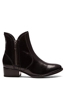 Seychelles Lucky Penny Bootie in Black Box Leather