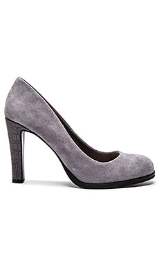 Keyboard Heel in Grey Suede