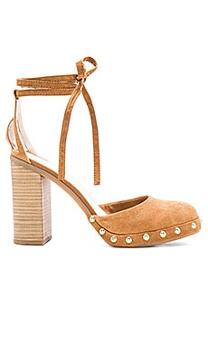 Seychelles Drift Heel in Tan Suede