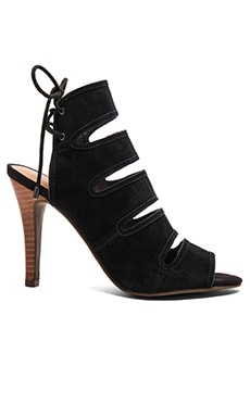 Play Along Heel in Black Suede