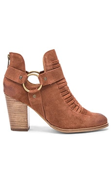 Impossible Booties in Cognac Suede