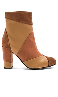 Skulk Booties in Cognac, Rust, & Tan