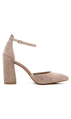 Gaggle Heels in Taupe & Platinum
