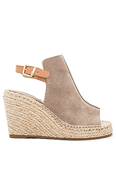 Charismatic Wedge in Taupe Suede