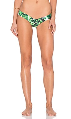 Stone Fox Swim Tucker Bikini Bottom in Banana Leaf