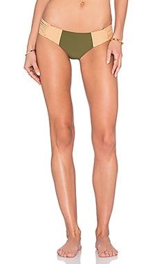 Stone Fox Swim Capri Bottom in Olive & Bare