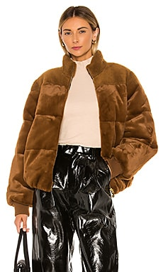 Aria Faux Fur Jacket Stine Goya $500