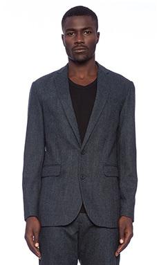 Shades of Grey by Micah Cohen 2 Button Blazer in Dark Blue Tweed