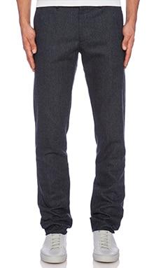 Shades of Grey by Micah Cohen Slim Fit Suit Pant in Dark Blue Tweed