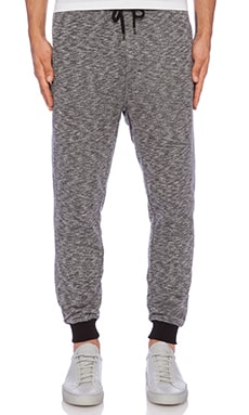 Shades of Grey by Micah Cohen Terry Lounge Pant in Blackboard