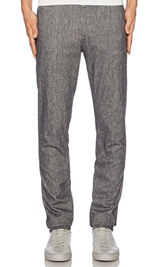 Shades of Grey by Micah Cohen Flat Front Pant in Indigo Chambray