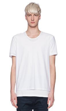 Shades of Grey by Micah Cohen 2 Layer Tee in White & White