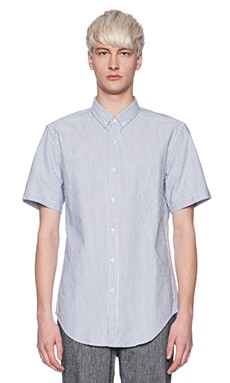 Shades of Grey by Micah Cohen Shirt in Blue Stripe Oxford