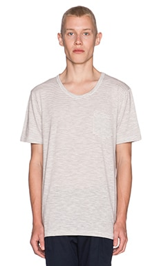 Shades of Grey by Micah Cohen Perfect Pocket Tee in Black & White Stripe