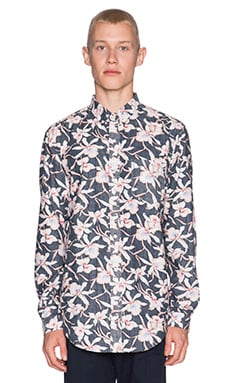 Shades of Grey by Micah Cohen Shirt in Navy Floral