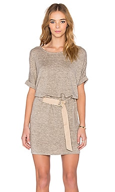 Shades of Grey by Micah Cohen Judo Belt Bag Dress in Oatmeal