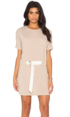 Shades of Grey by Micah Cohen Judo Belt Bag Dress in Heather Beige Knit