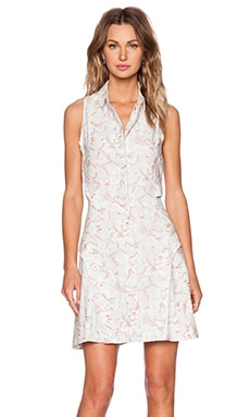 Shades of Grey by Micah Cohen Peek-A-Boo Shirtdress in Light Grey Floral