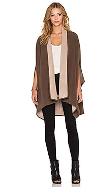 Shades of Grey by Micah Cohen Oversized Cocoon Cape in Taupe