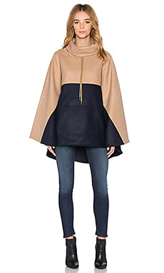 Shades of Grey by Micah Cohen Anorak Cape in Camel & Navy